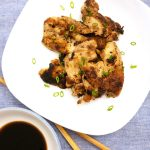 This cast iron Asian chicken thigh recipe is juicy and succulent.