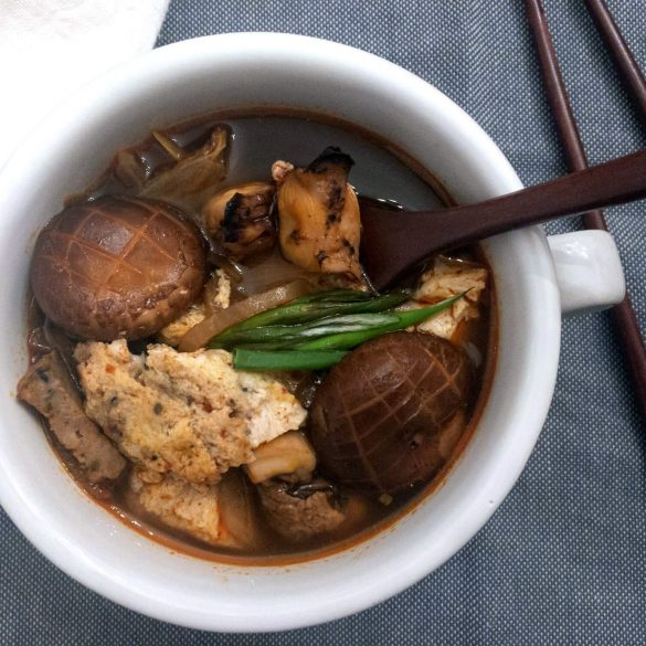 This Korean Spicy Seafood Soup/Stew is easy, healthy, soy-free and a favorite in our household as it is very similar to the popular Korean dish Sundubu Jigae (spicy soft tofu stew).