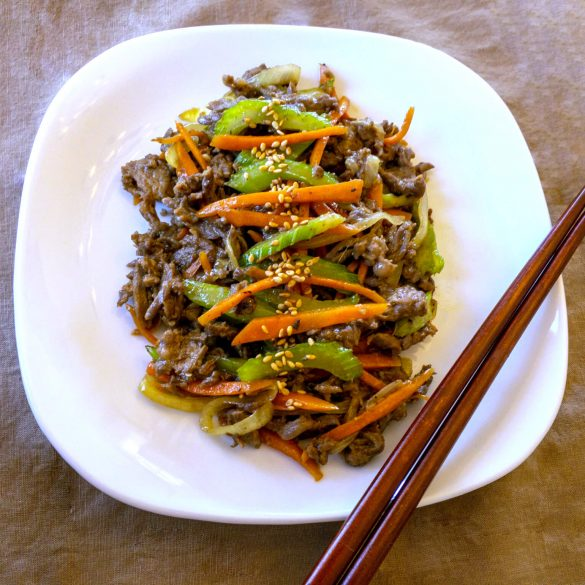 Asian Beef Stir Fry - This is an Asian-inspired simple beef stir fry recipe that has a great blend of savory flavors.