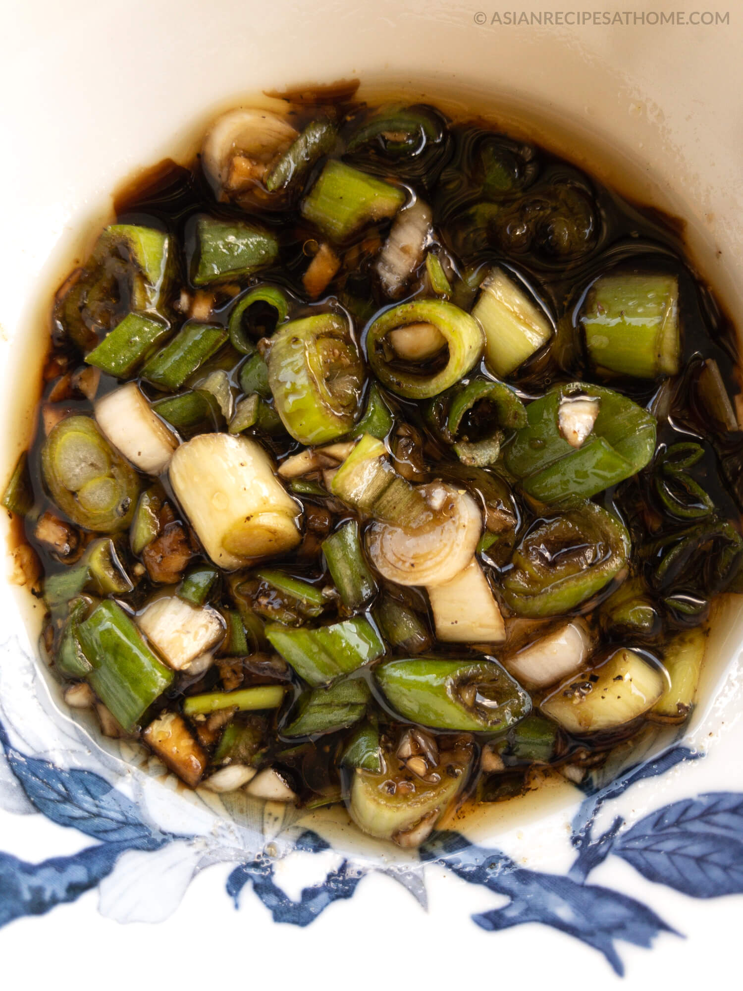 This sesame green onion (scallion) sauce recipe is so easy to make and delicious. It is versatile and has many uses.