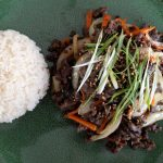 This is the best Korean beef bulgogi recipe. This bulgogi is made of thin slices of ribeye beef that is marinated in our own very special homemade marinade, and then stir-fried.