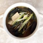 This Korean spinach and mussel fermented soybean (doengjang) soup is so easy to make and will make you feel good about eating it.