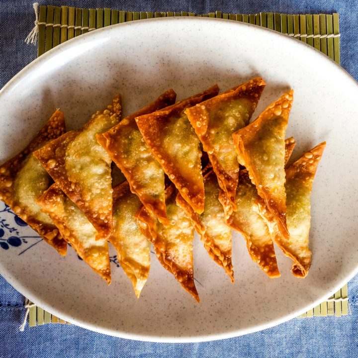 Korean dumplings (yaki mandu) are filled with ground pork, vegetables, and a few different seasonings to make it extra delicious.