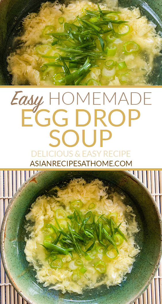 Make this easy homemade egg drop soup with just a few simple ingredients. This egg drop soup recipe is so delicious, easy to make and delivers on great flavor.