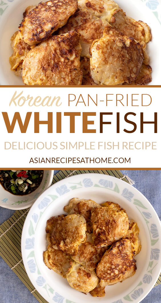This Korean pan-fried whitefish (also known as Saeng Sun Jun) is healthy, protein-packed, and a delicious light meal (or snack).