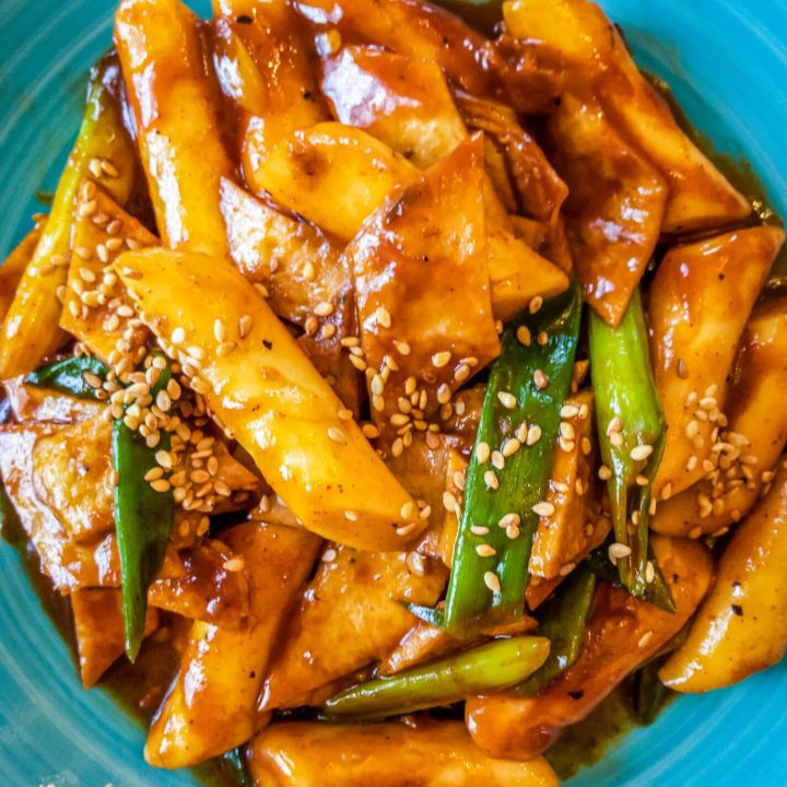 Make our easy Korean spicy rice cakes (tteokbeoki) recipe. Korean spicy rice cakes (tteokbeoki) is a very popular street food in Korea. It also makes for a delicious appetizer or snack.