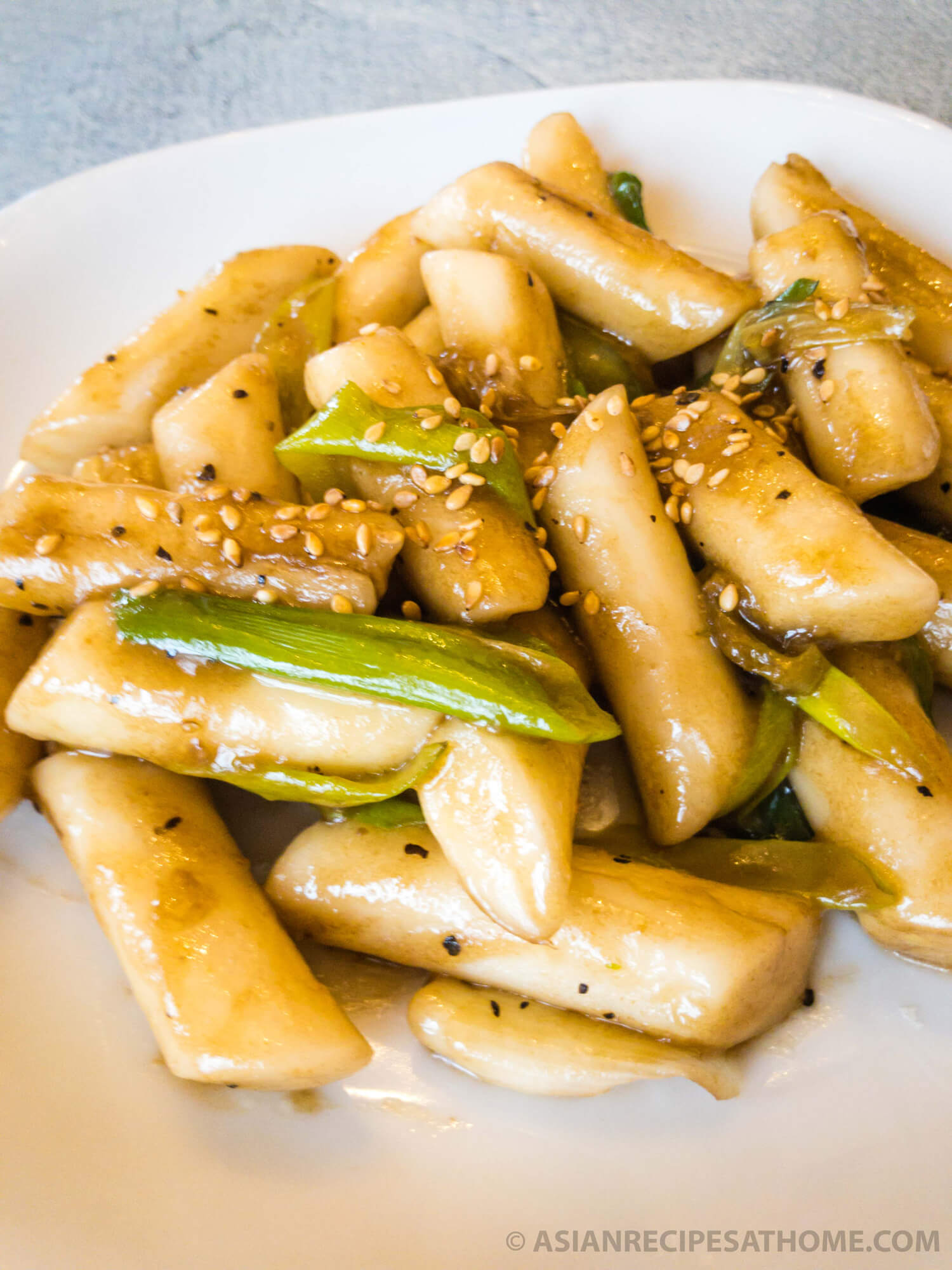 Make our easy Korean Stir-Fried Rice Cakes (Ganjang Tteokbeoki) recipe the next time you want a quick savory appetizer or snack.