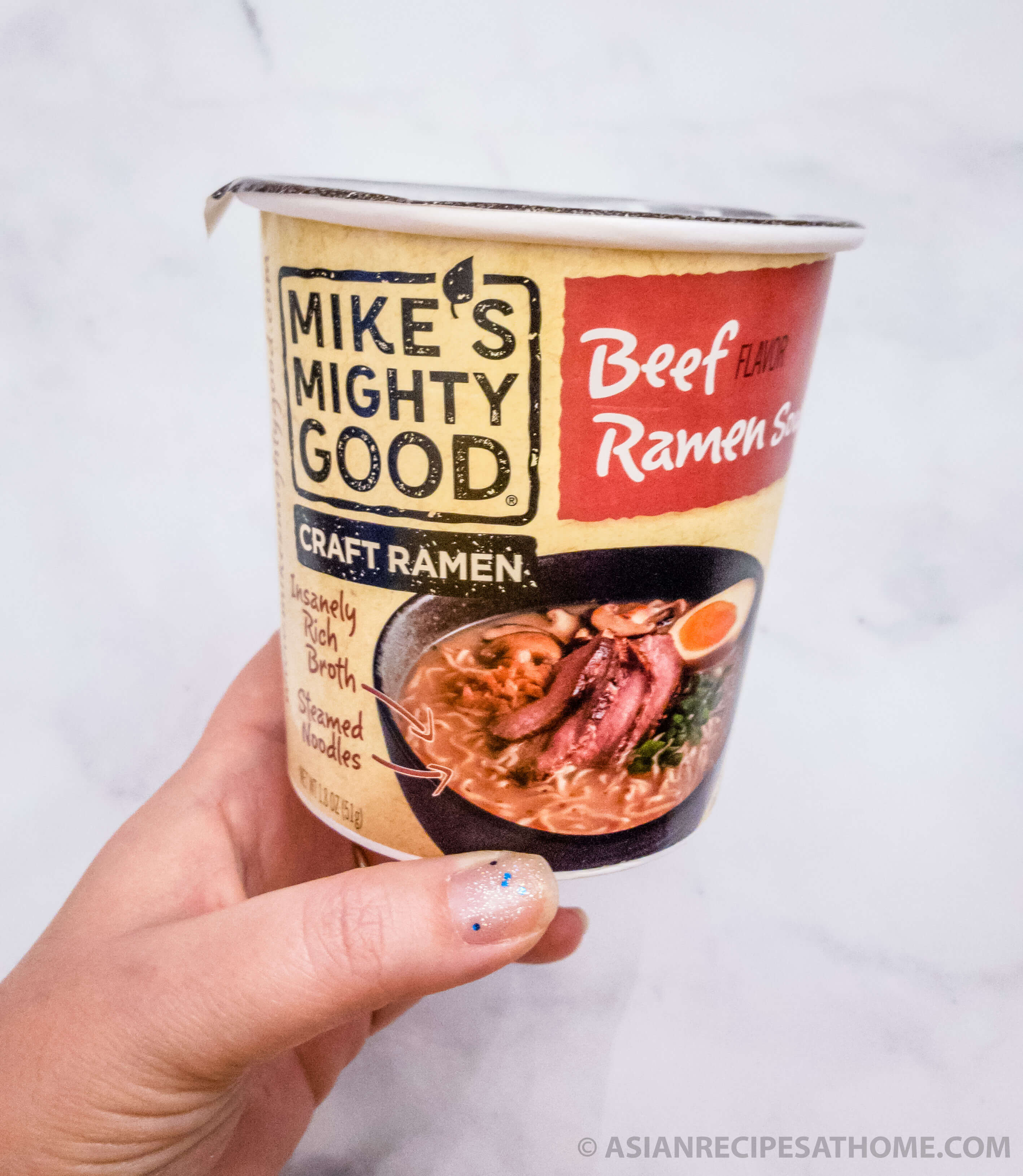 This is a delicious upgraded version of instant ramen. We decided to try out Mike's Mighty Good Craft Ramen for this review and instant ramen hack, and we weren't disappointed.