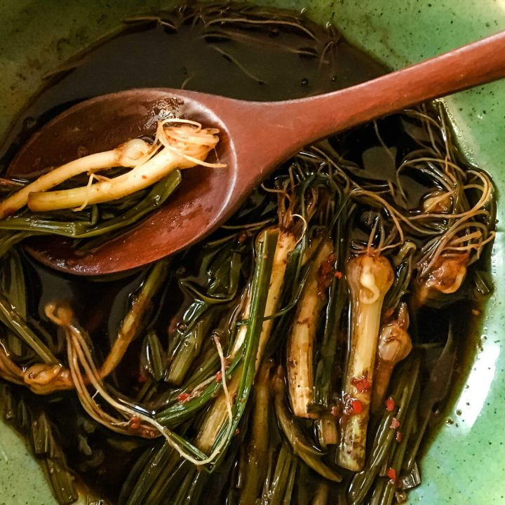 Korean Marinated Wild Chives (Dallae-muchim) recipe