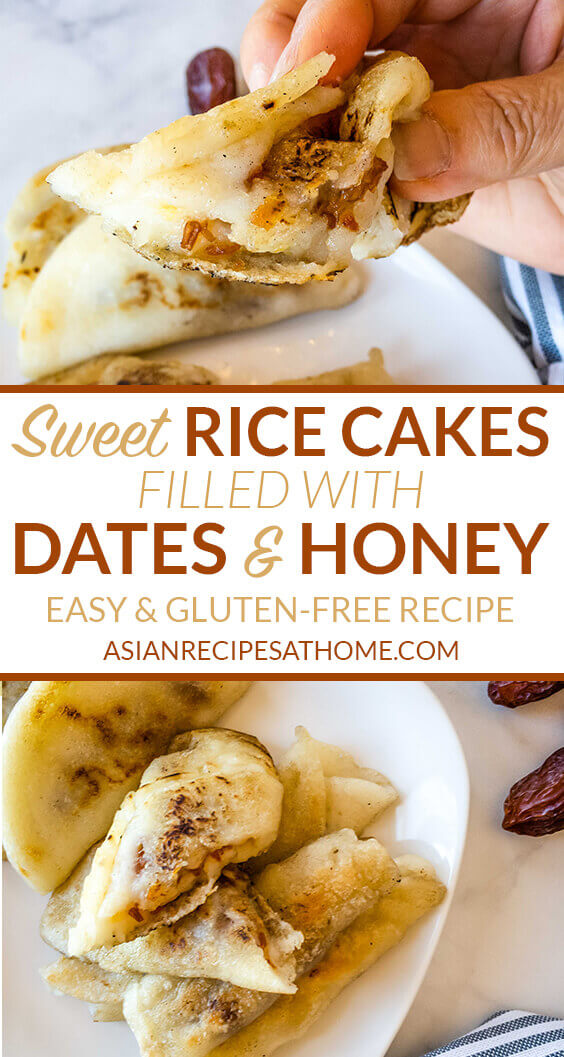 Sweet rice cakes filled with dates and honey recipe.