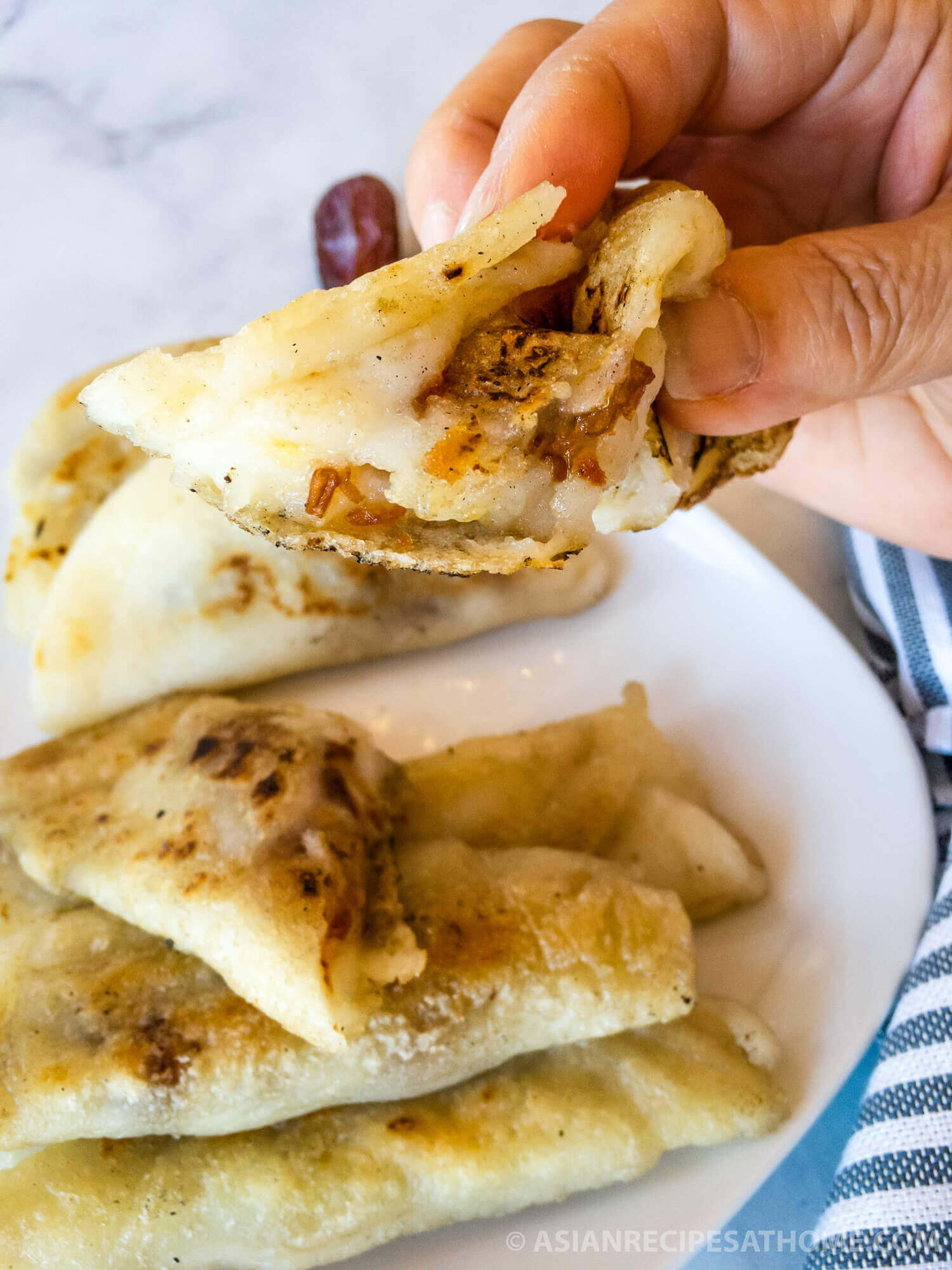 Sweet rice cakes with dates and honey is a delicious gluten-free dessert or snack.