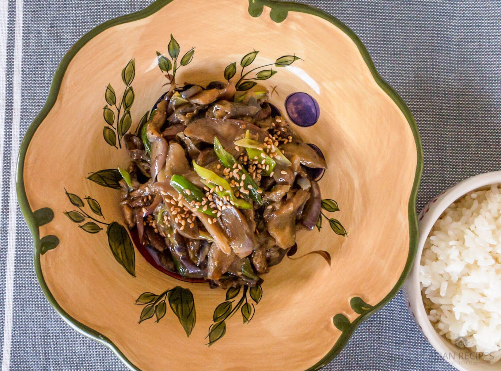 This Korean-style Stir-Fried Eggplant (Gaji Bokkeum) side dish is easy to make with simple seasonings.