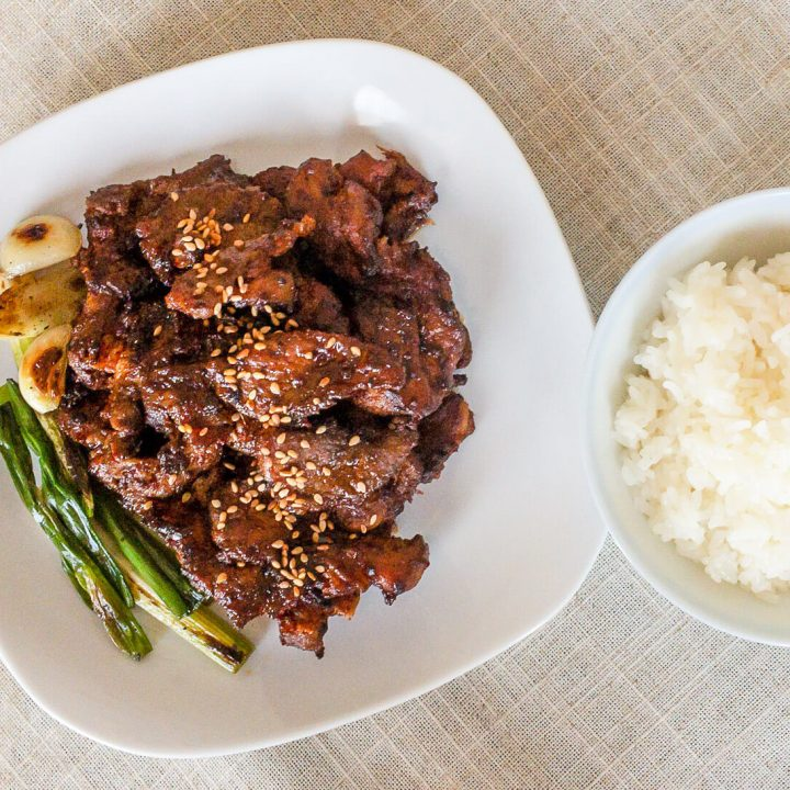 This spicy stir-fried pork belly recipe is so delicious and full of Korean flavors.