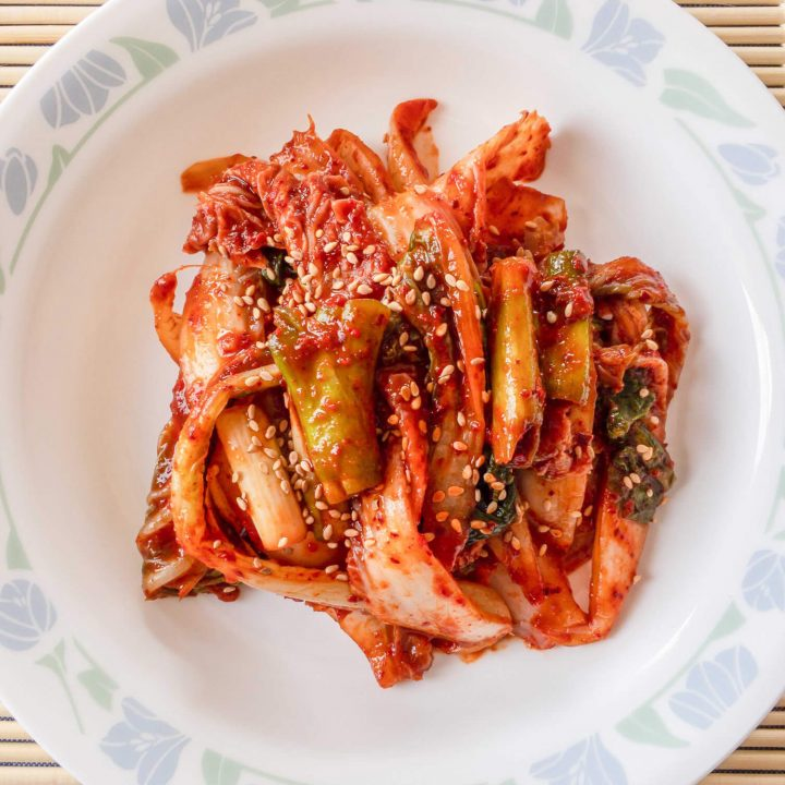 This delicious kimchi recipe is a great option when you want some fresh kimchi available as soon as possible.