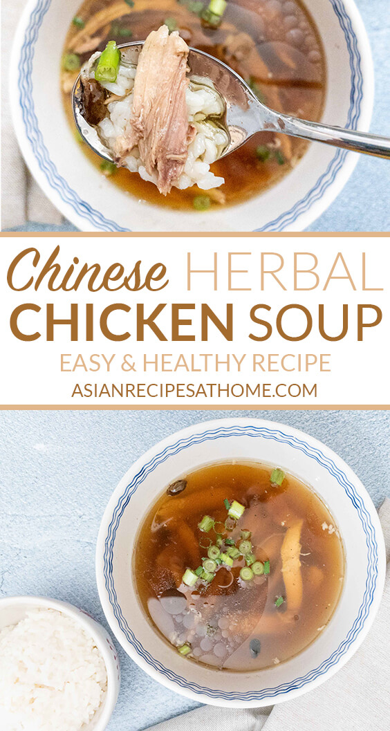 This Chinese herbal chicken soup is so good for your immune system and warms you up in cold weather.