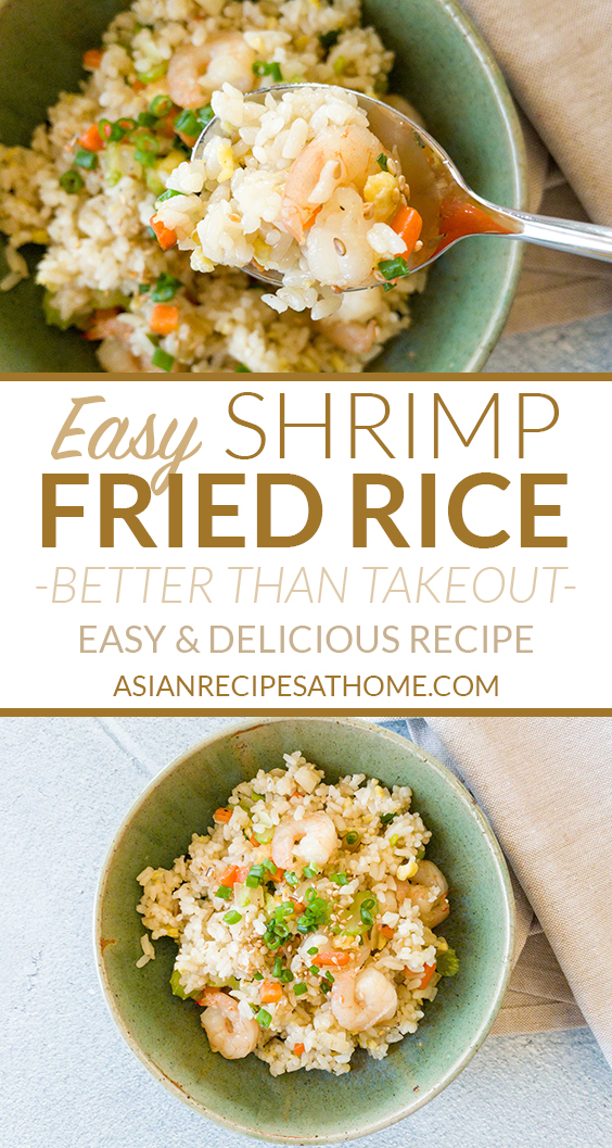 A super easy shrimp fried rice that tastes great. The whole family is going to love this healthier and homemade shrimp fried rice.