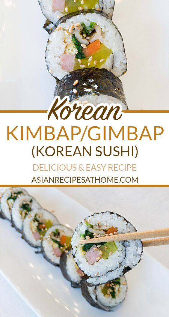 Make basic Korean kimbap, also known as Korean sushi rolls, with our easy and delicious recipe!