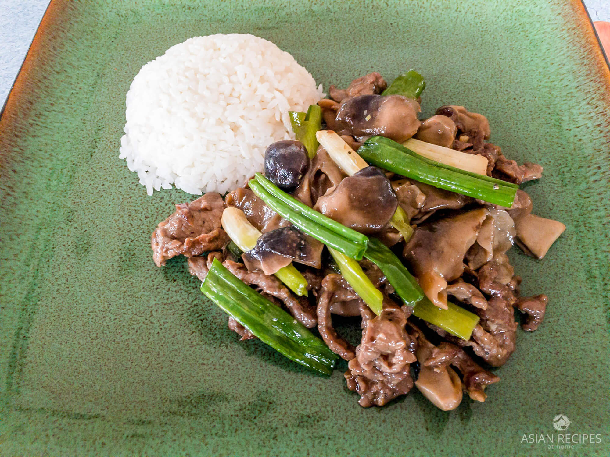 Straw mushrooms and Asian-style marinated beef are stir-fried together in this delicious and easy recipe.