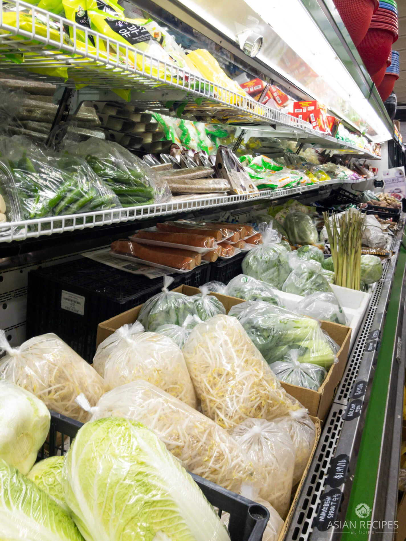 Vegetables at a local Korean grocery store.