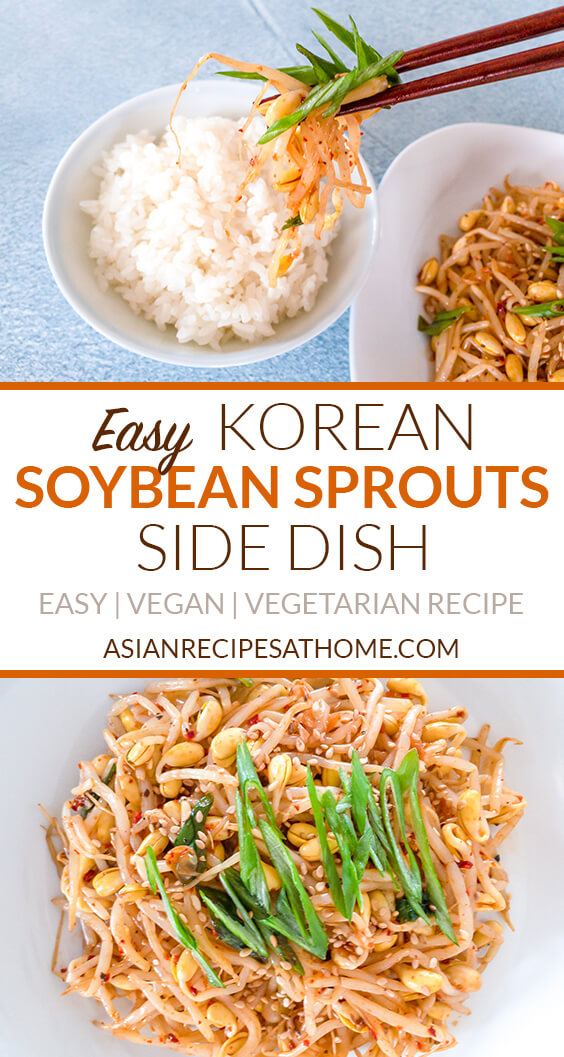 This soybean sprouts (kongnamul muchim) recipe is certainly one of the most popular side dishes (banchan) in Korean cuisine.