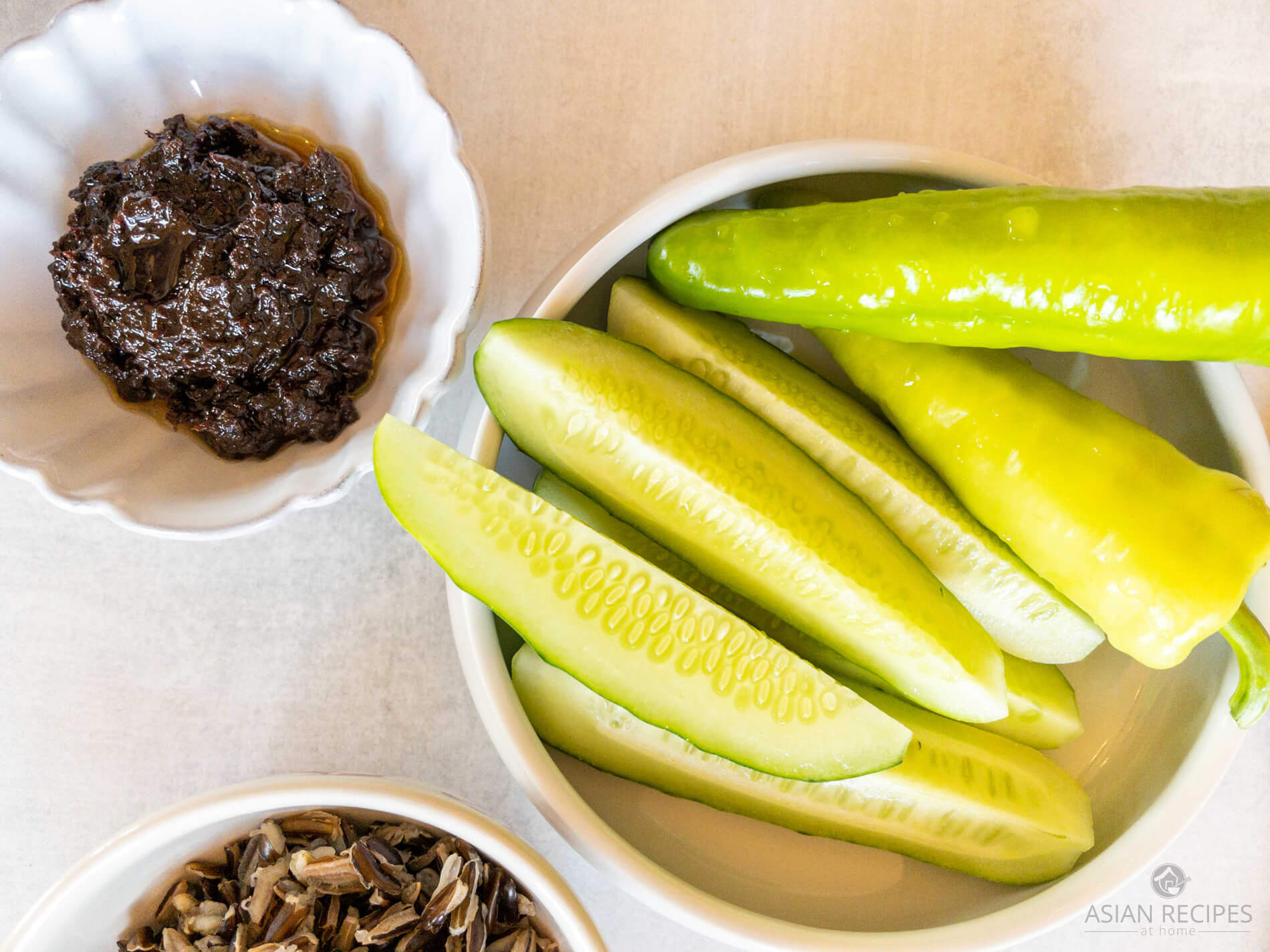 This Korean fermented soybean paste (doenjang) dip is so easy to make and goes great with veggies.