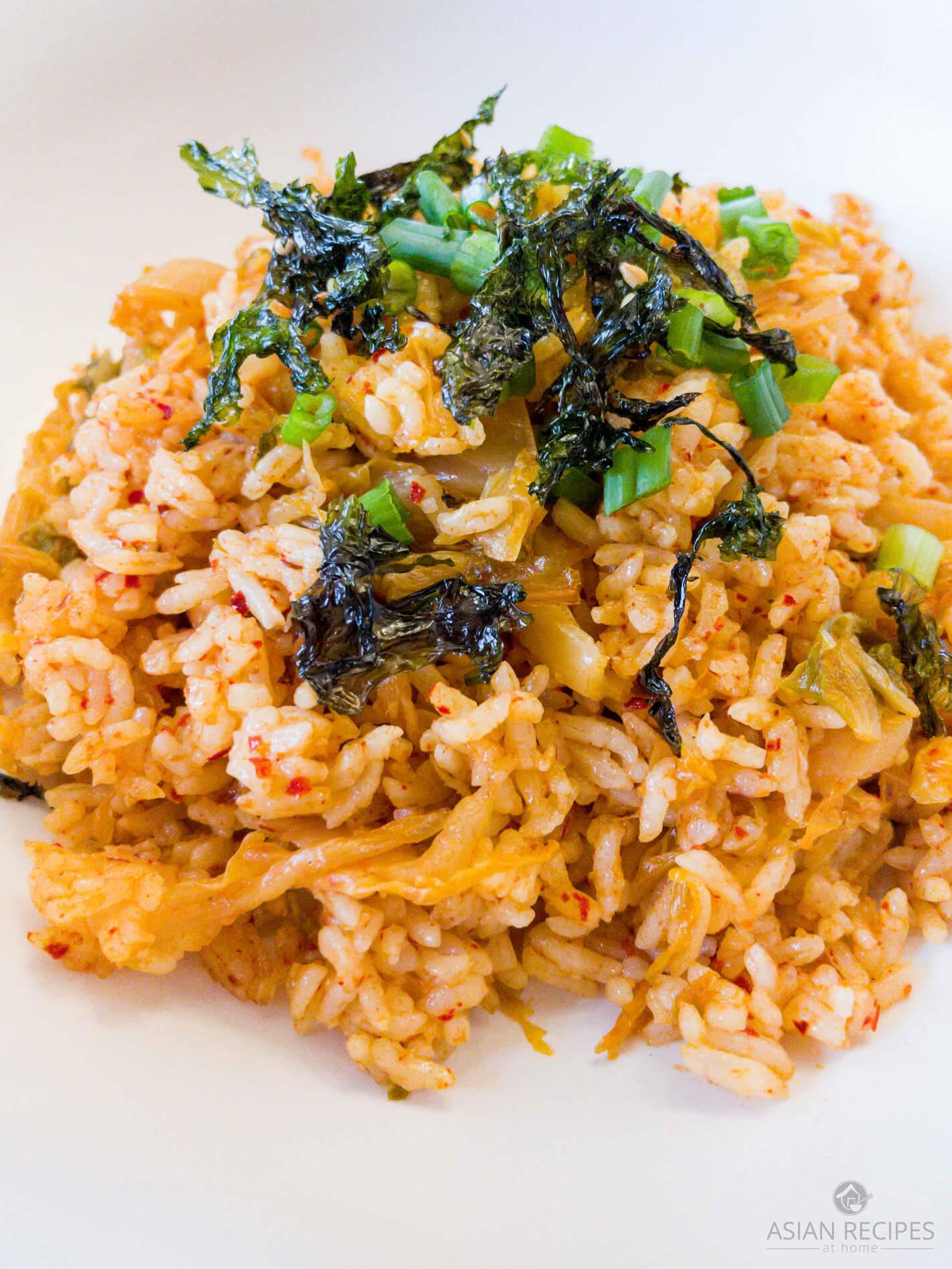 Easy kimchi fried rice ready to eat