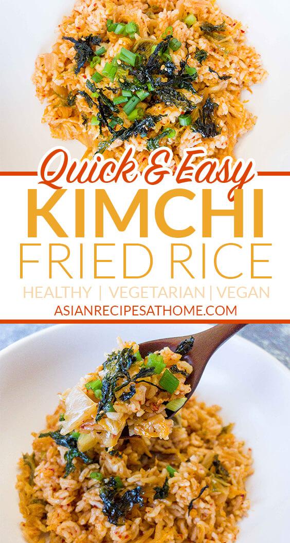 Easy kimchi fried rice ready to eat.