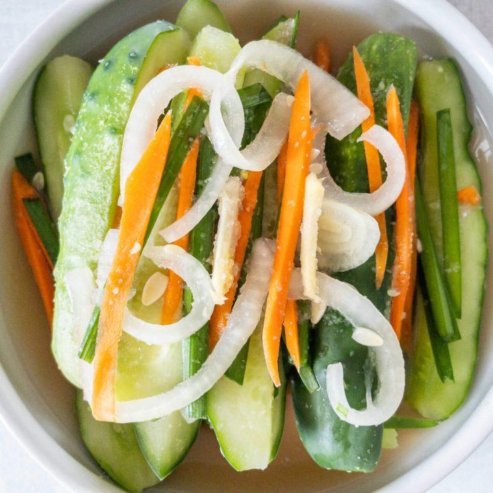 White Cucumber Kimchi