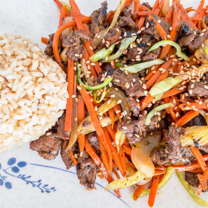 Our beef stir-fry recipe is a tasty and easy way to prepare beef for a quick dinner! It is so much better for you than takeout and just as tasty